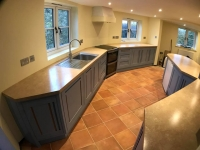 Bespoke kitchen with Oak inlay