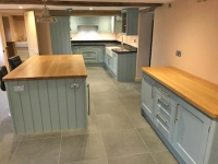 Bespoke Norfolk kitchen with solid granite worktops