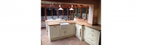 Painted kitchen with Oak worktops