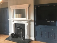 Bespoke bookcase and tv cabinets